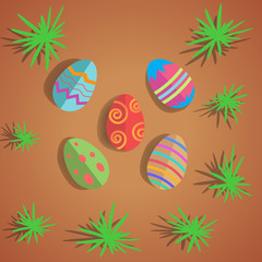 Colorful Easter eggs. vector background