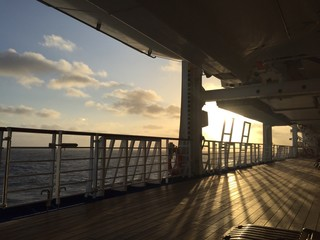 sunset from cruise ship