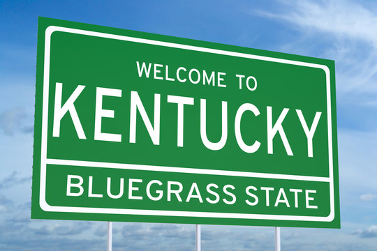 Welcome to Kentucky state road sign