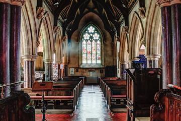 Old English church inside