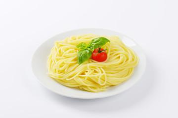 portion of boiled spaghetti
