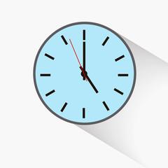 round clock , five o'clock