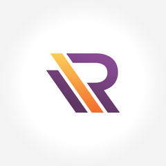 Stylish Modern Letter R