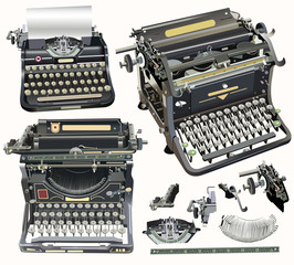 retro typewriters