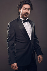 portrait of elegant brutal fashion man