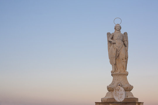 San Rafael Archangel statue, Cordoba, Spain