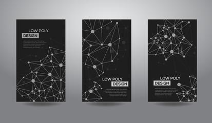 Abstract polygonal futuristic geometric low poly design.