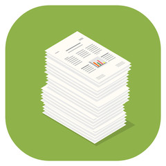 A vector illustration icon of Paper Documents.