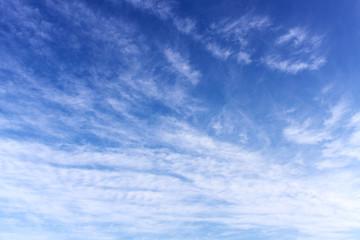 Cloudy on blue sky