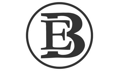 E B logo