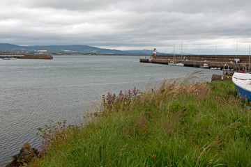 Wicklow Ireland North Harbor and Lighthouse