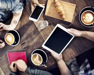 Team Meet up Coffee Shop Concept