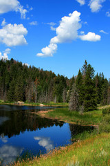 High Mountain Lake near Yellowstone National Park Wyoming USA