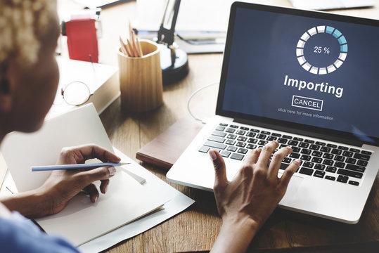 Importing Files Loading Progress Concept
