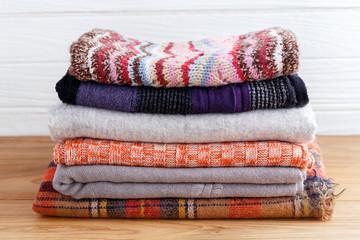 Winter fashion clothing stack