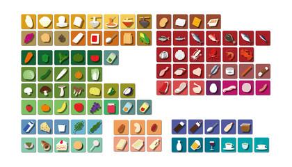 食品分類アイコン(分類別カラー)