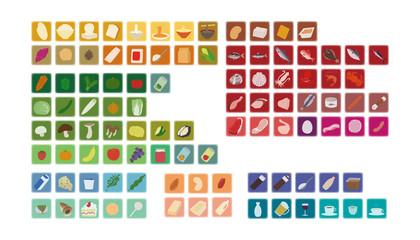 食品分類アイコン(分類別カラー ぼかし)