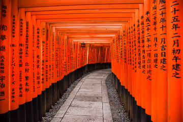Fushimi Inari shrine in Kyoto, Japan
