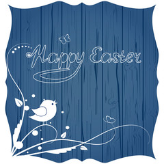 Greeting card happy easter with flowers