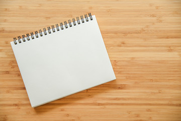 binder notebook on wooden table