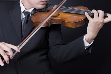 musician playing violin