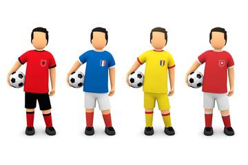 Fußball 2016 - Gruppe A, Männchen Mannschaften