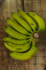 Top View Image of Bunch of Bananas