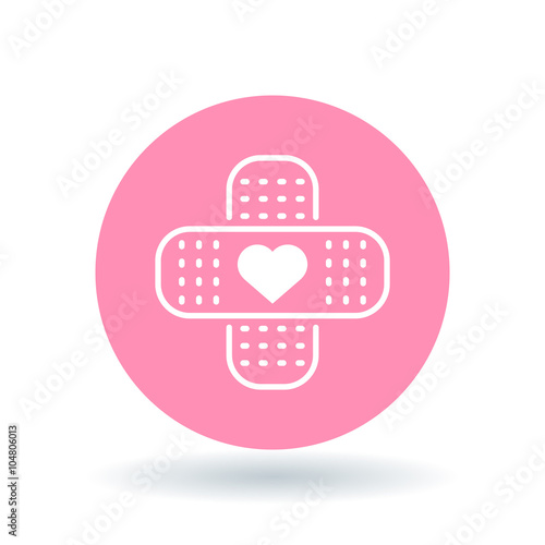 Band Aid Plaster Heart Icon Bandage Plaster Love Sign Band Aid