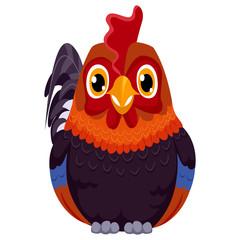 Illustration of Cartoon Rooster