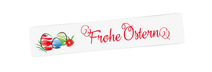 frohe ostern - banner