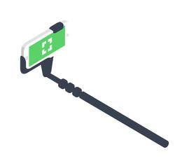 Selfie stick vector illustration