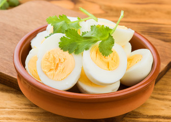 means boiled eggs