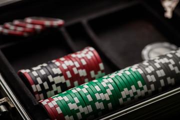 Poker chips detail