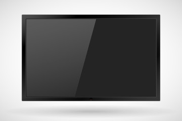 TV,realistic modern flat screen lcd, led, isolated. Vector illustration. EPS10.