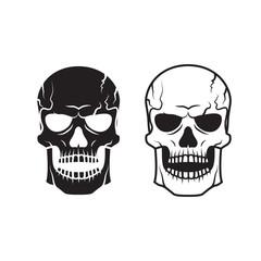 Vector skull for tattoo
