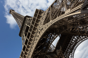 Eiffel tower, paris. View from below. France