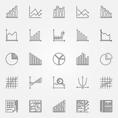 Statistics icons set