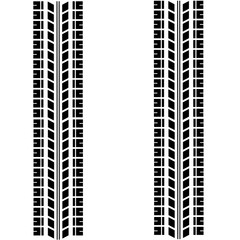 Tyre print, mark vector illustration.