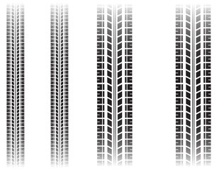 Tire mark - vector illustration.