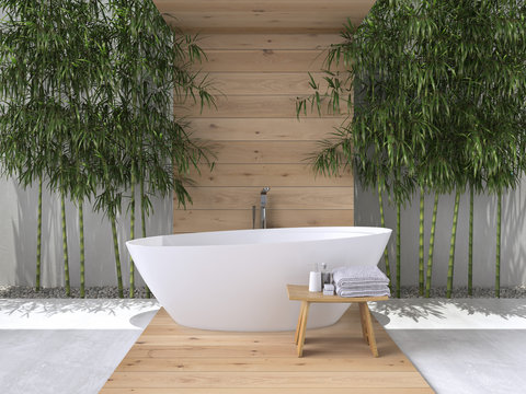 interior of a bathroom. 3d rendering
