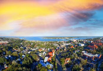 Sunset over St Augustine, oldest US city Fototapete