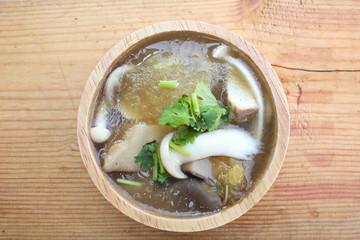 Chinese soup or fish maw soup