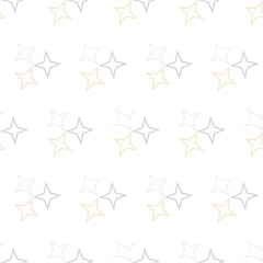 Seamless Colorful Abstract Pattern from Repetitive Stars