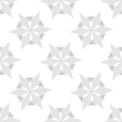 Seamless Black and White Abstract Pattern from Repetitive Stars