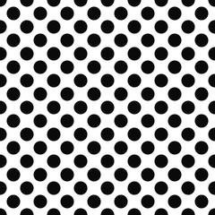 Seamless black white polka dot pattern
