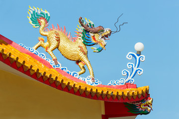 Kirin statue in chinese temple