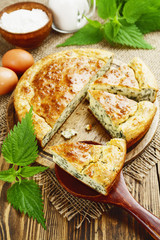 Pie with nettles