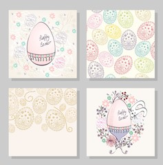 Vector artistic greeting card with Easter eggs.