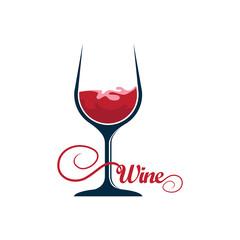 Cute Red wine symbol