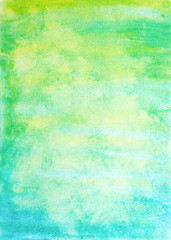 abstract watercolor vertical background with green and blue colors